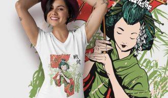 Free Japanese t-shirt Freebies vector