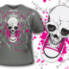 T-shirt design 108 products 107 shoe skull apparel