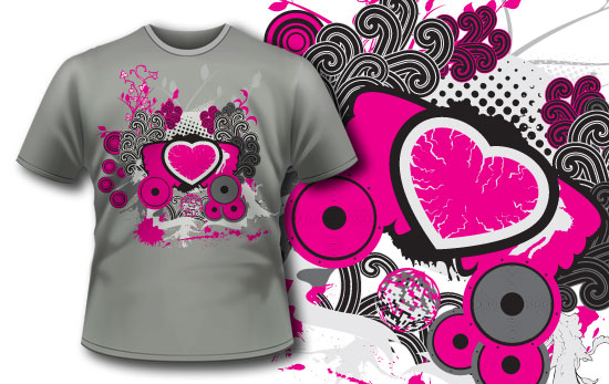 T-shirt design 117 products 117 music explosion tee