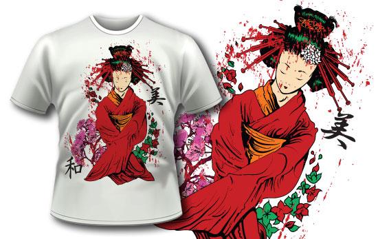 T-shirt design 140 products 140 bloddy geisha apparel