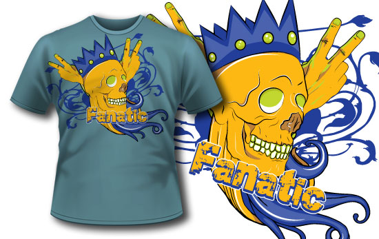 T-shirt design 92 products 92 crown skull apparel
