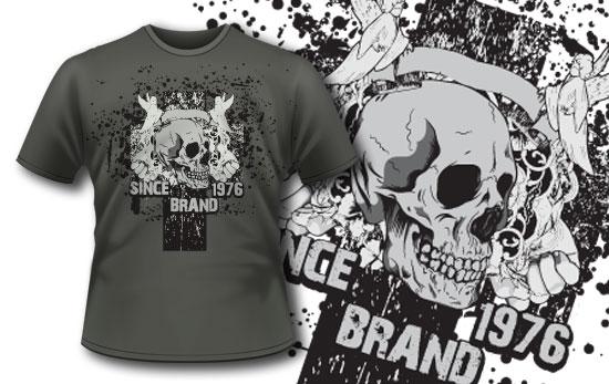 T-shirt design 94 products 94 angels and skull emblem