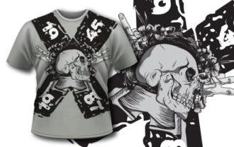 T-shirt design 95 T-shirt Designs and Templates skull