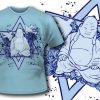 T-shirt design 100 products 99 budha apparel