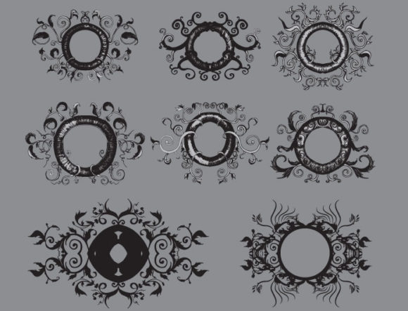 Floral vector pack 5 products FLORAL ornate 5 preview