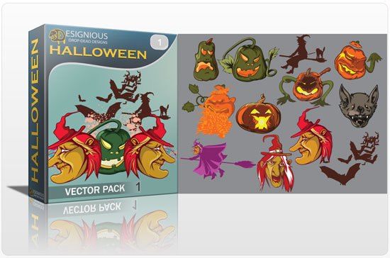 Halloween Vector pack products HALLOWEEN witch