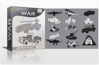 War vector pack 3 War military