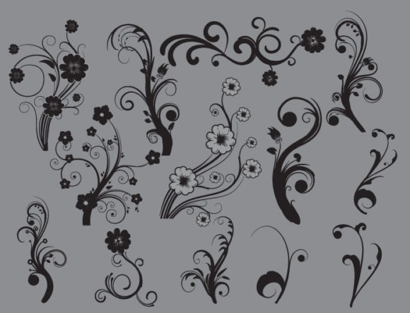 Floral vector pack 19 products abstract floral 19 prewiev