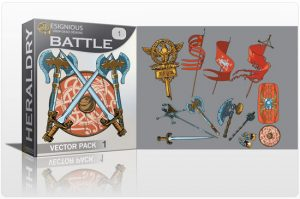 Battle vector pack Heraldry eagle