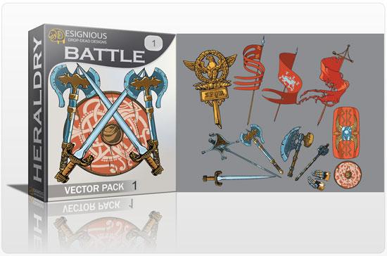 Battle vector pack Heraldry eagle