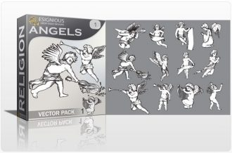 Angels vector pack Religion clip