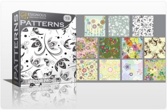 Seamless patterns vector pack 19 Vector Patterns floral