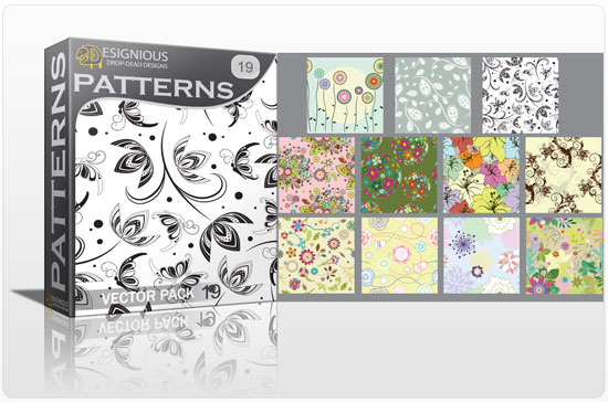 Seamless patterns vector pack 19 5
