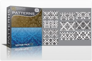 Seamless patterns vector pack 20 Patterns victorian