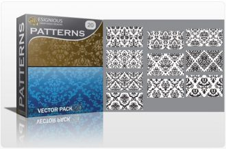 Seamless patterns vector pack 20 Vector Patterns victorian