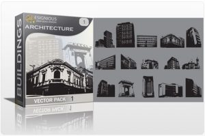 Architecture vector pack Buildings building