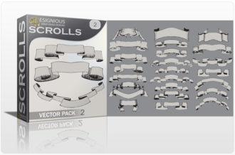 Scrolls vector pack 2 Scrolls ribbon