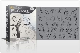 Floral vector pack 8 Floral victorian