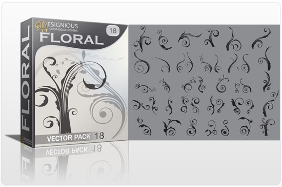 Floral vector pack 18 products baroque floral 18 1