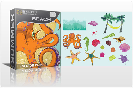 Beach vector pack 1 products beach 11
