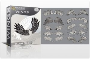 Wings vector pack 2 Wings vector
