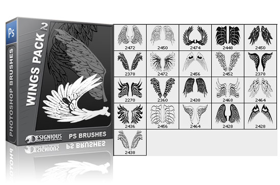 Wings brushes pack 2 5
