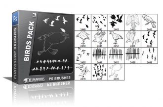 Birds brushes pack 3 Nature brushes [tag]