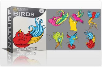 Birds vector pack 2 Nature tattoo