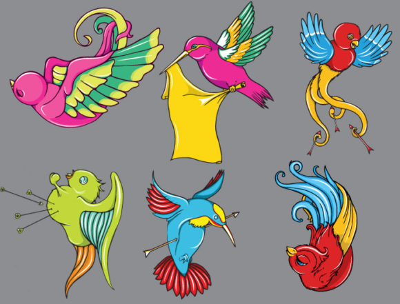 Birds vector pack 2 Nature tattoo