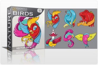 Birds vector pack 3 Nature tattoo