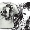 T-shirt design 66 products black and white lady tee 67