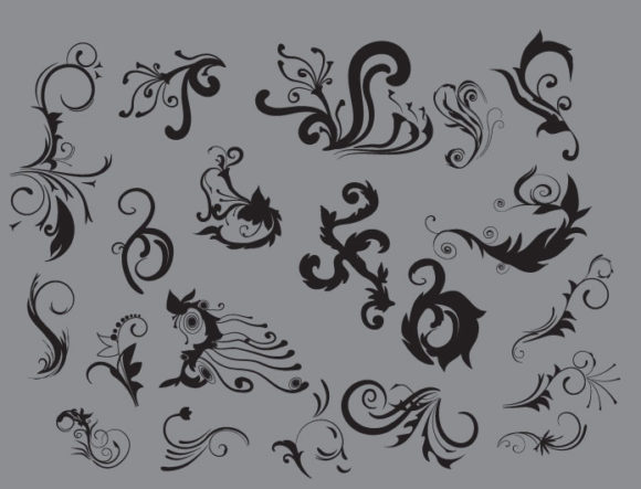 Floral vector pack 8 6