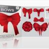 Christmas vector pack 7 santa products bows 1