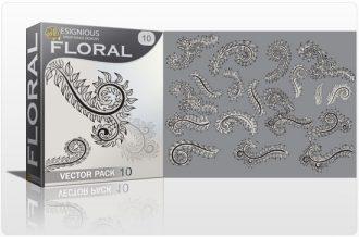 Floral vector pack 10 Floral leaf