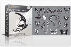 Butterflies vector pack 2 Nature vintage