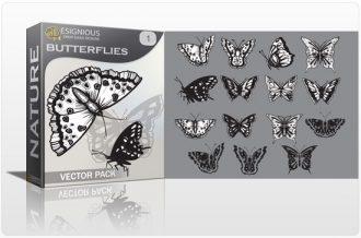 Butterflies vector pack Nature butterfly