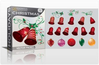 Christmas vector pack 5 Holidays ball