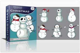 Christmas vector pack 3 Holidays winter