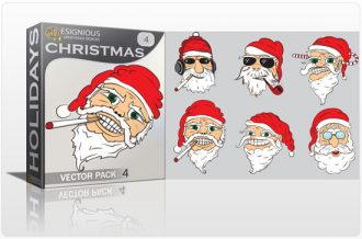 Christmas vector pack 4 Holidays christmas