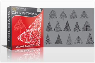 Christmas vector pack 1 Holidays tree