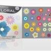 Floral vector pack 19 products colorfull floral petals 20