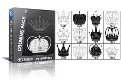 Crowns brushes pack 2 Heraldry brushes [tag]