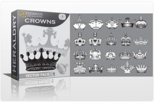 Crowns vector pack Heraldry antiquity