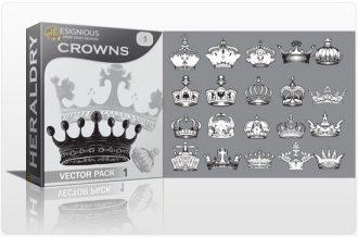 Crowns vector pack Heraldry antiquity