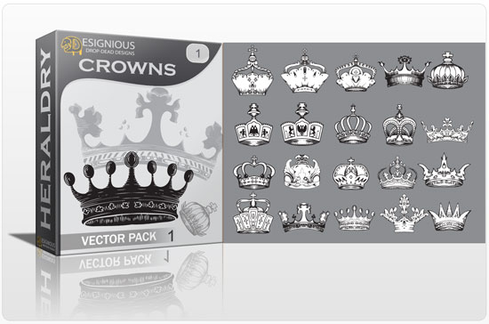 Crowns vector pack 1