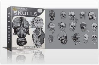 Skulls vector pack 1 Skulls bones