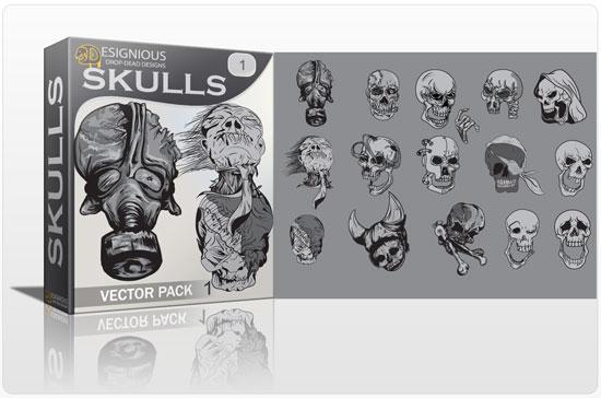 Skulls vector pack 1 products dead SKULLS 1