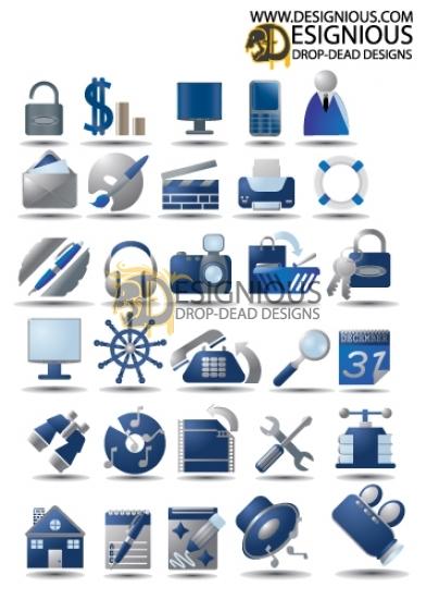 Free icons set 3 products designious icon set3