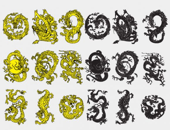 Dragon vector pack products dragon prewiev