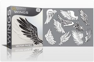 Wings vector pack 5 Wings vector